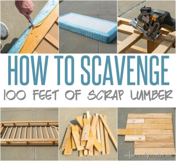 how to scavenge lumber