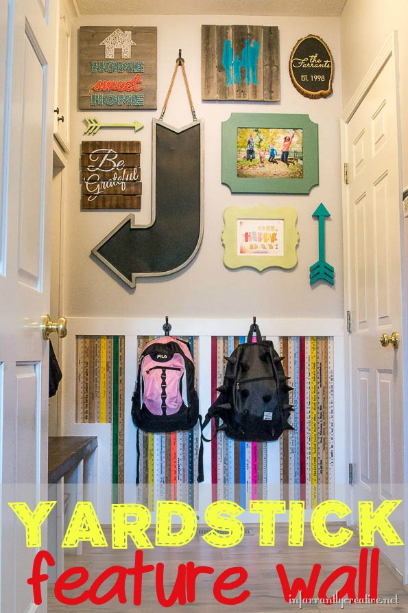 Yardstick Chair Rail Part - 39: Adding A Little Quirk To Your Home {Yardstick Backpack Wall}