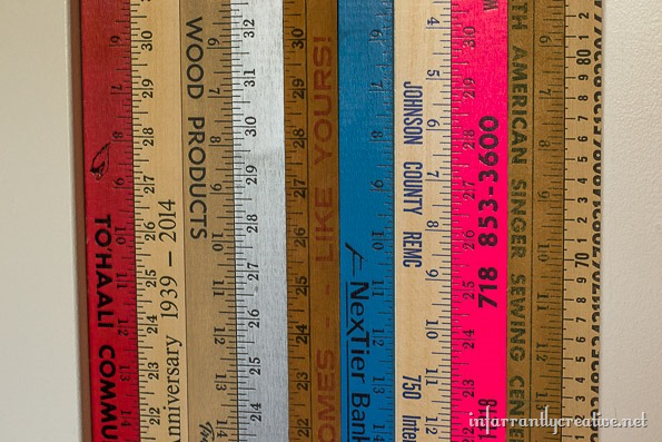 yardsticks as art