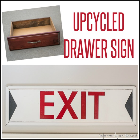 Vintage Exit Sign from an Old Drawer