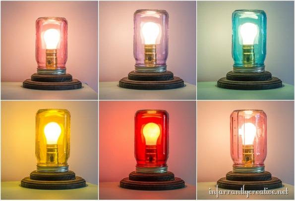 Mason Jar Table Lamp Infarrantly Creative