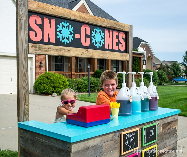 at home sno cone stand
