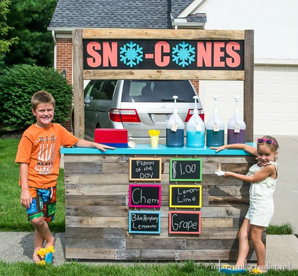 snow cone stand at home