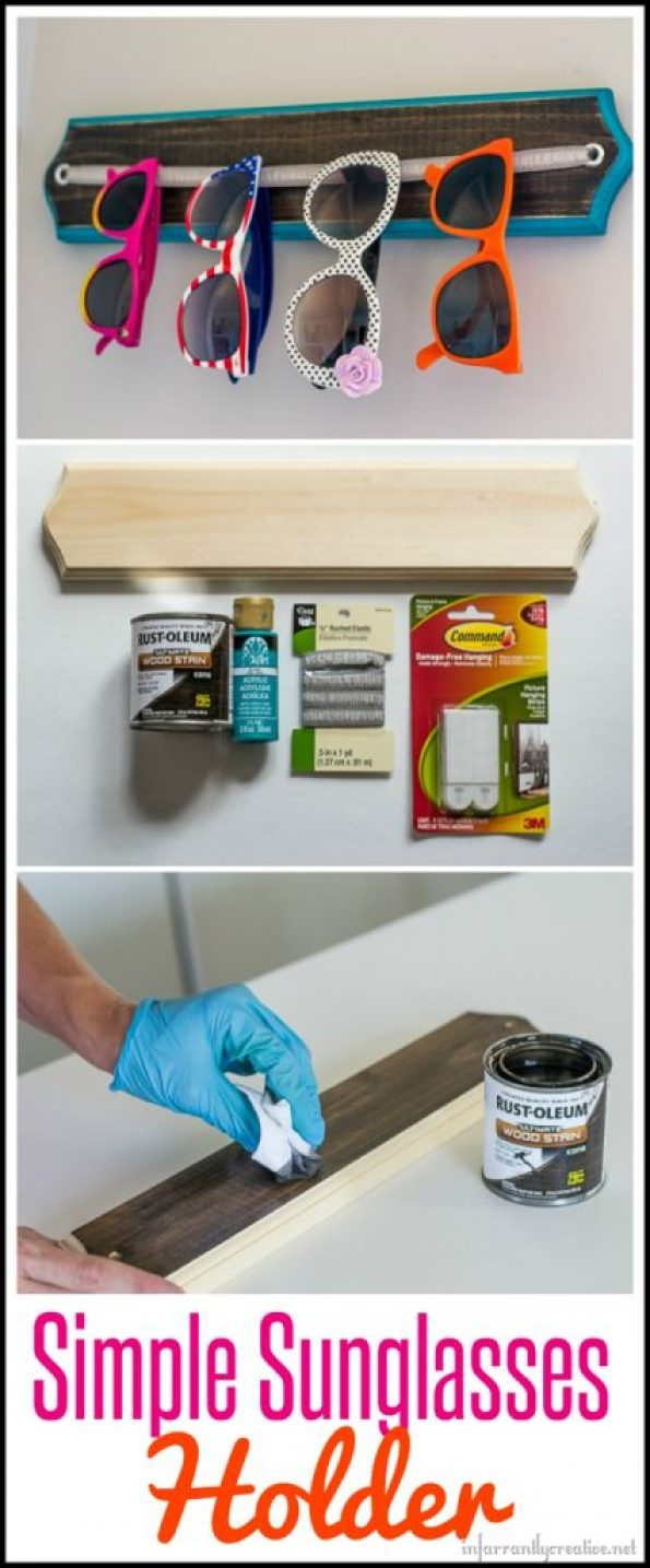 Simple DIY Sunglass Organization