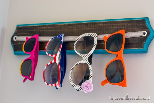 DIY sunglass organization
