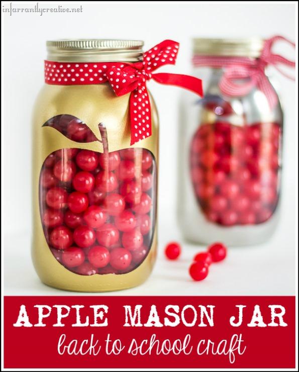 Back to School Apple Mason Jar