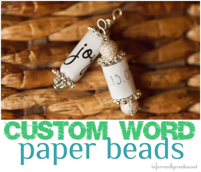 custom word paper beads tutorial
