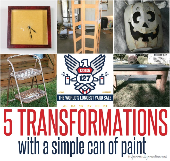 5 transformatioons with a simple can of spray paint