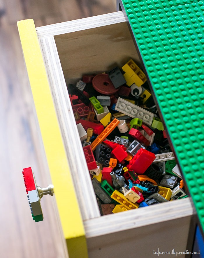 lego pieces drawers