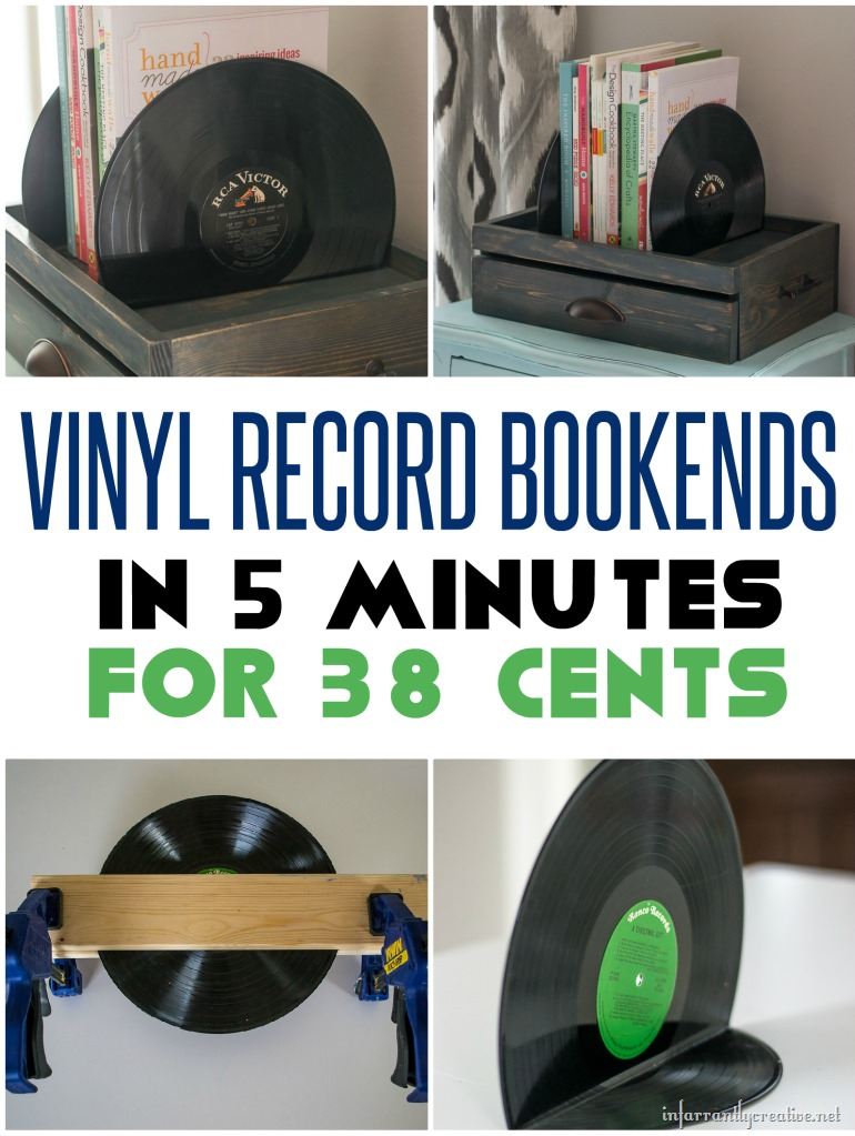 38 Cents and ONLY 5 minute Vinyl Record Bookends