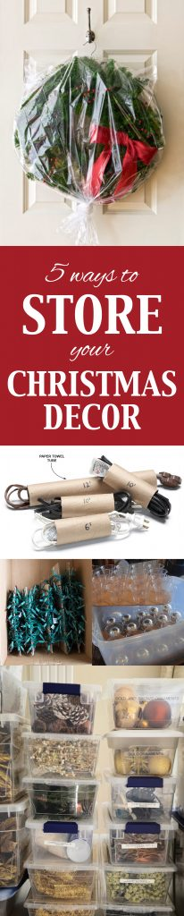 5 Ways to Store Your Christmas Decor