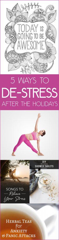 5 Ways to De-stress after the Holidays