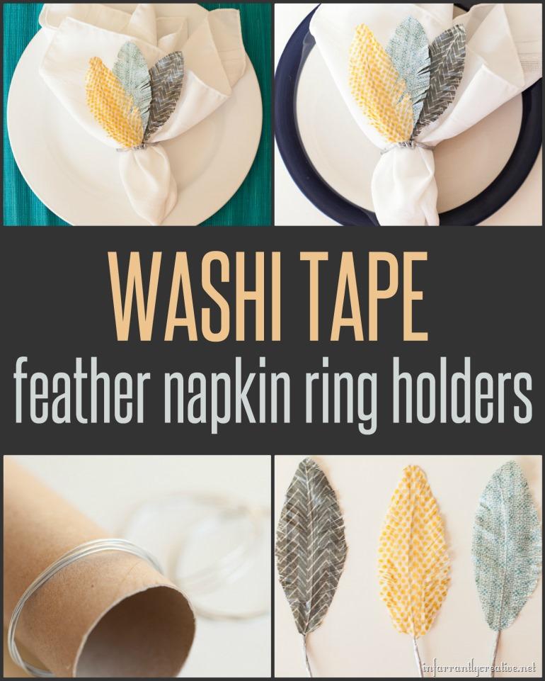 DIY CRAFTS  Washi tape napkin ring holders