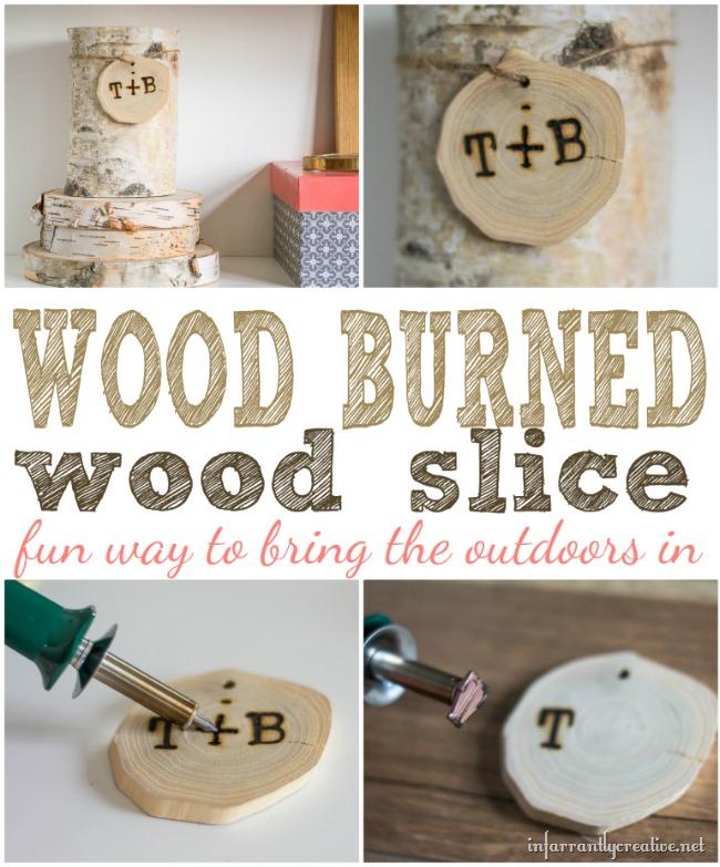 Wood Burned Wood Slice