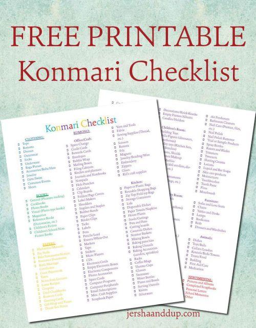 konmari-checklist