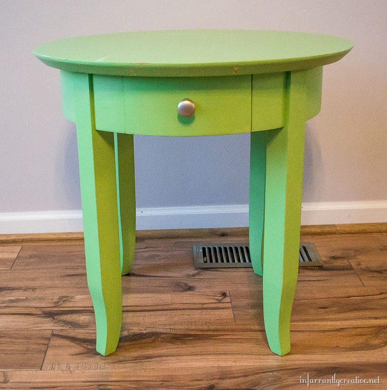 lime accent table