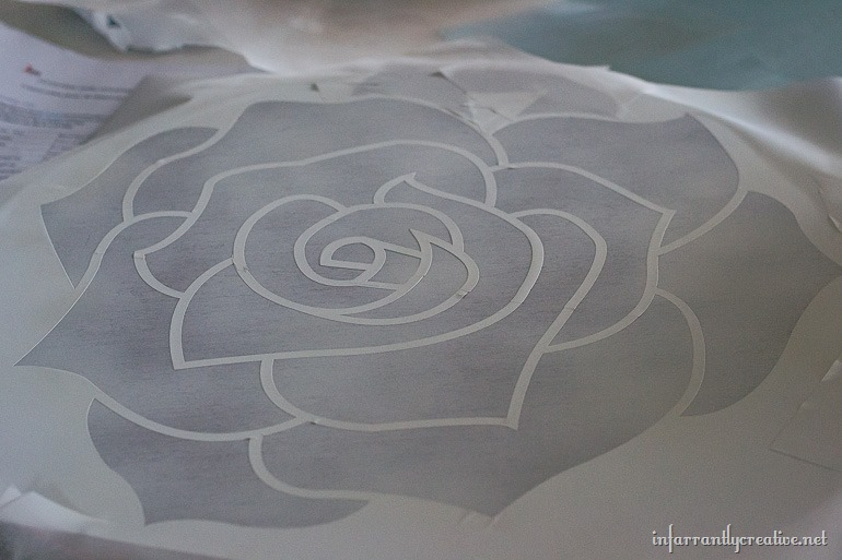 painted rose table