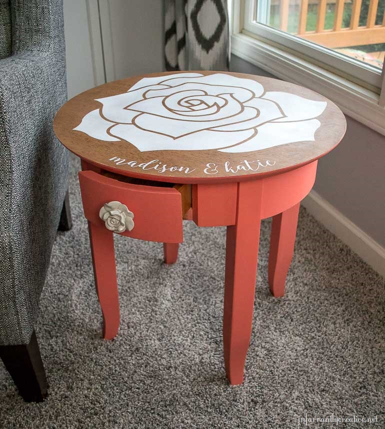 rose table coral