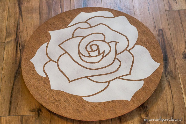 white rose on tabletop