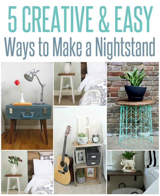 5 Creative And Easy Ways To Make A Nightstand Infarrantly