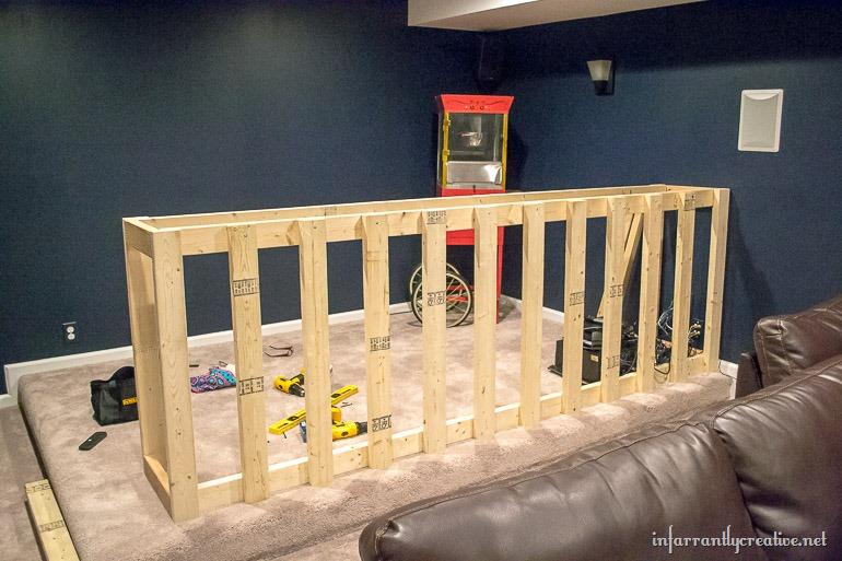 Man Cave Bar Measurements : Diy how to build an amazing man cave bar