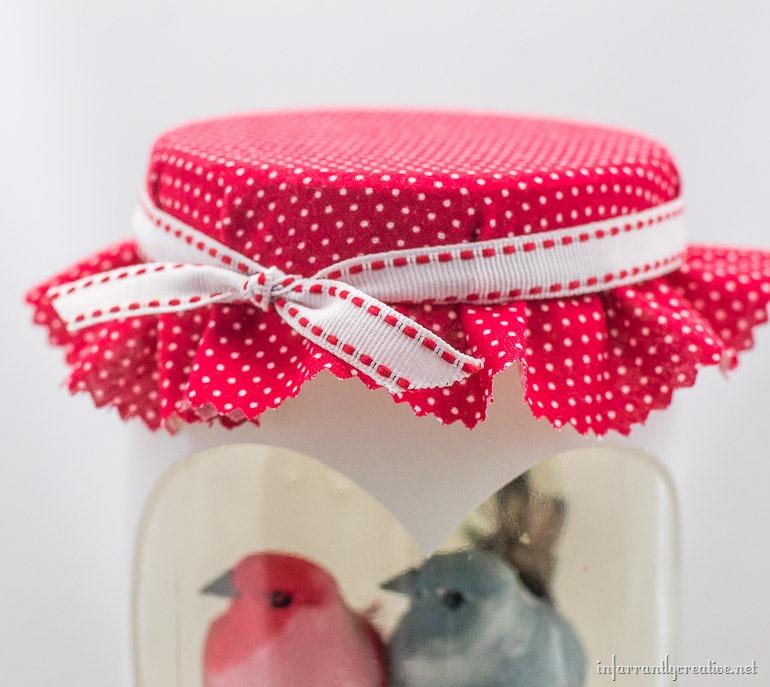 valentine love birds jar