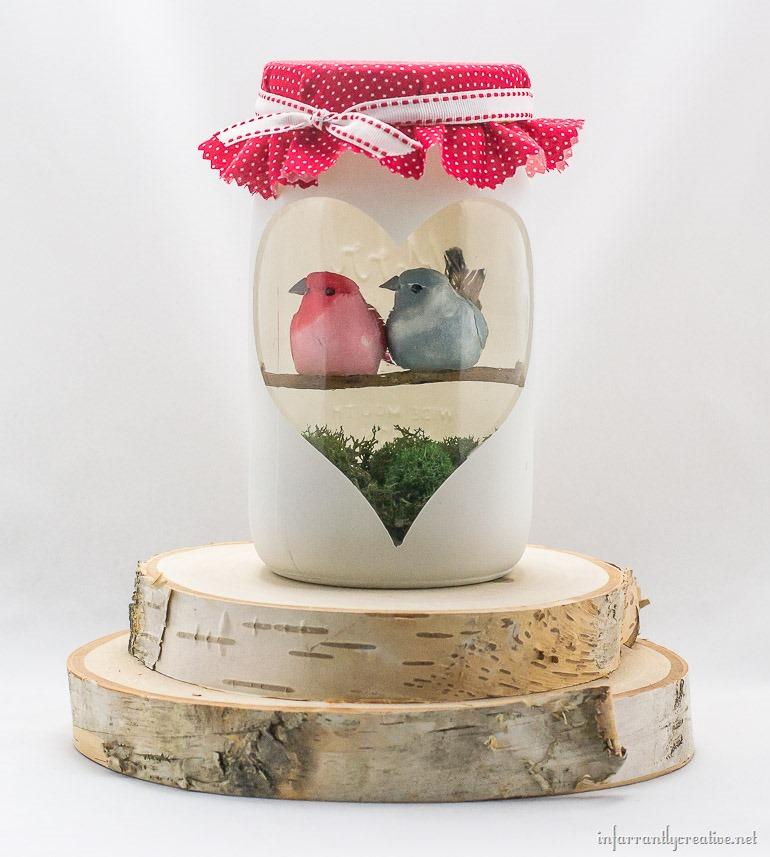 valentine's day love birds craft