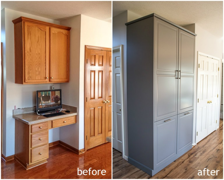 kitchen pantry cabinet ikea How to Assemble an IKEA Sektion Pantry   Infarrantly Creative kitchen pantry cabinet ikea
