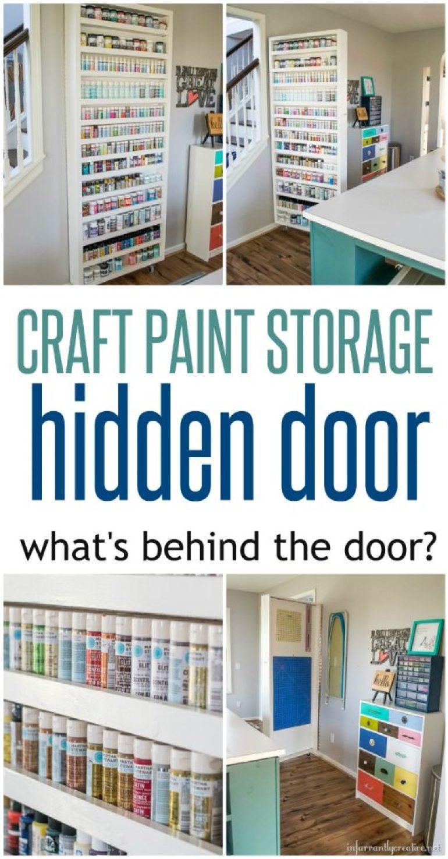 Craft Paint Storage Hidden Door