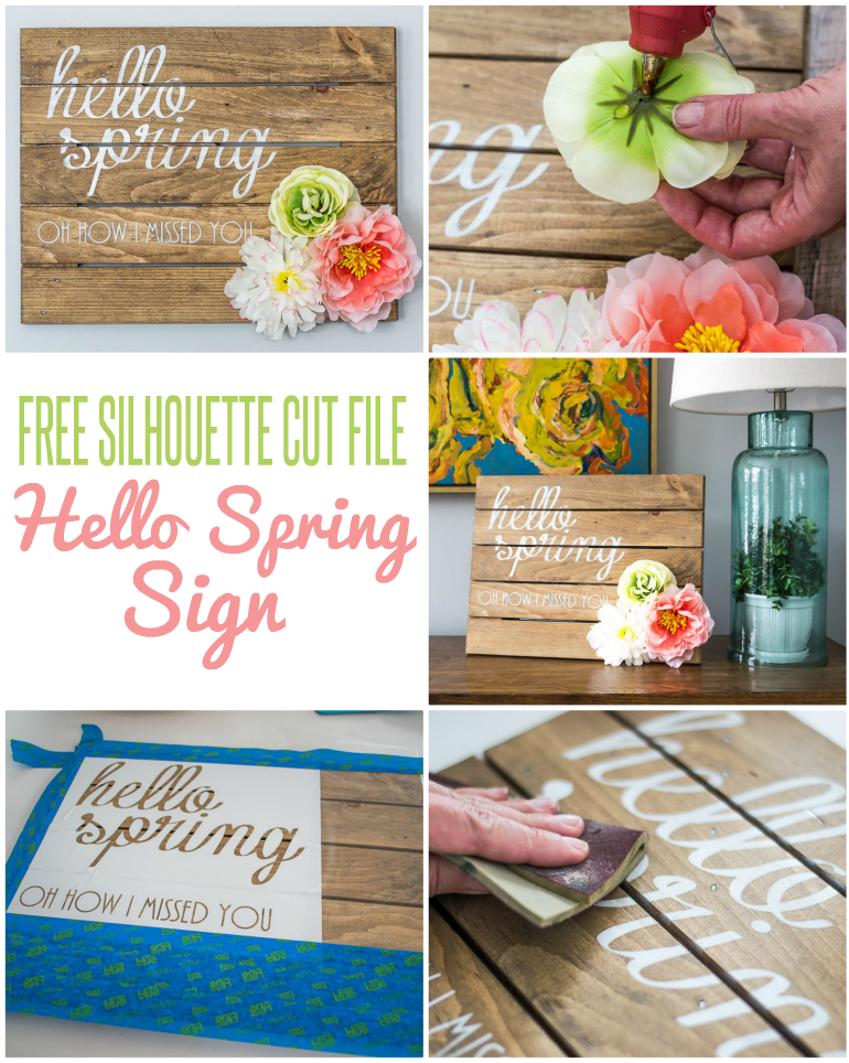 Spring Decorations Hello Spring Sign
