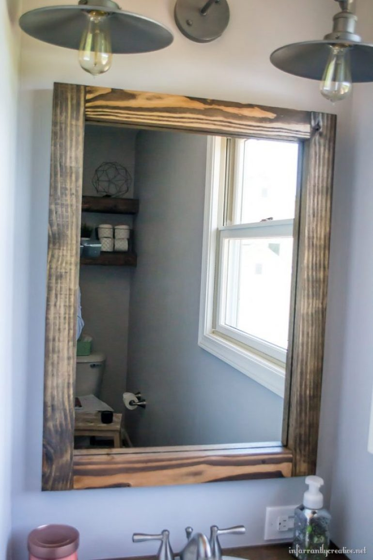 building a wood vanity mirror
