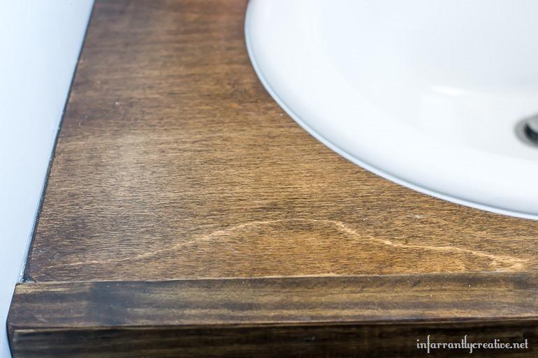wood top vanity