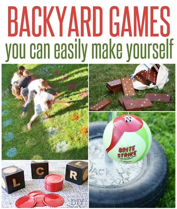 DIY Backyard Games ~ These five outdoor games are simple to make and the perfect way to get outside and have fun with your family this summer!