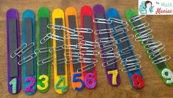Popsicle Stick Magnetic Counting