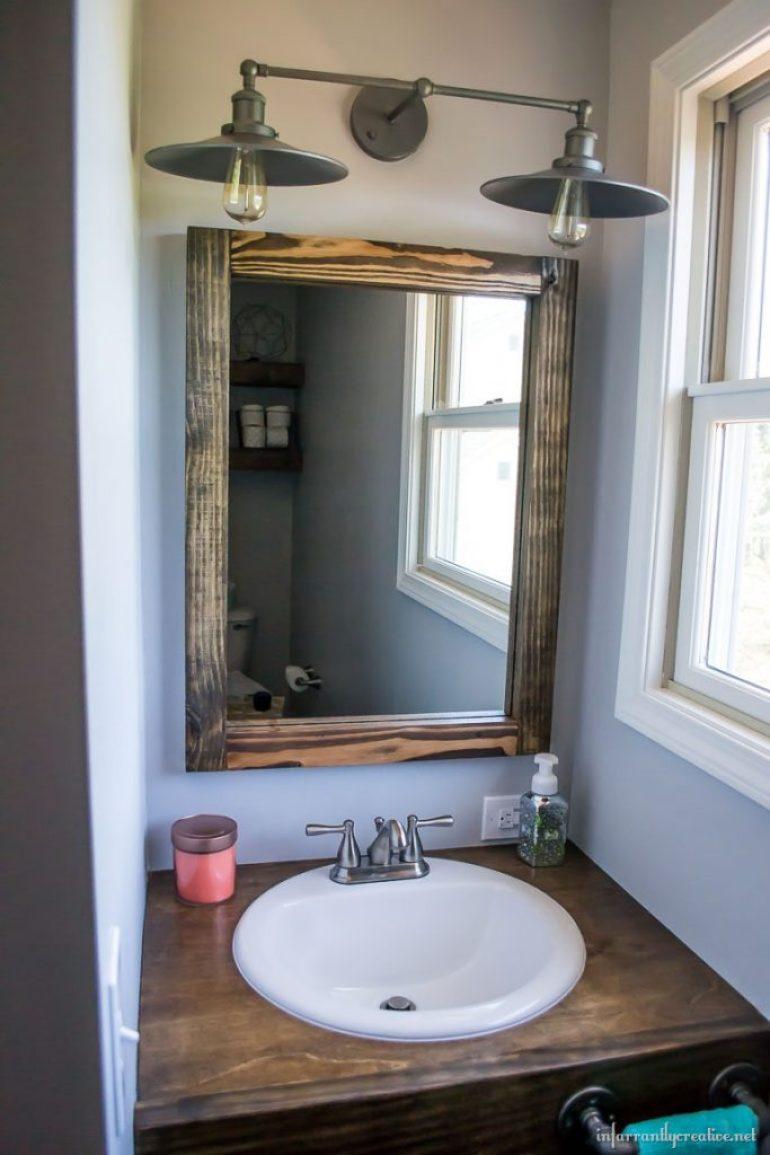 building a wood framed mirror