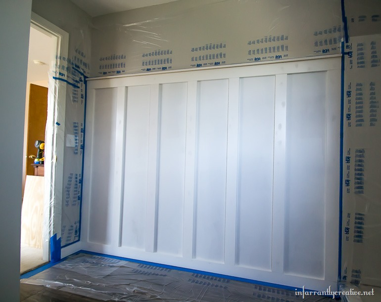 spraying board and batten