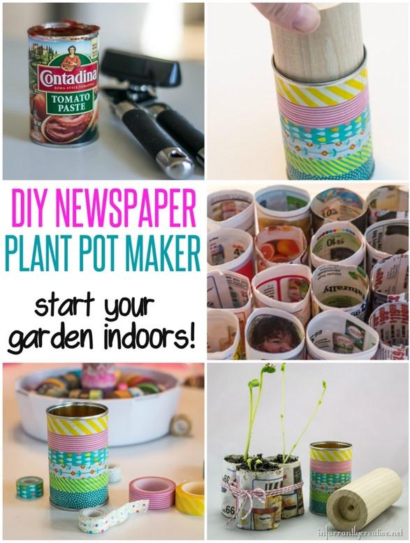 DIY Plant Pot Maker