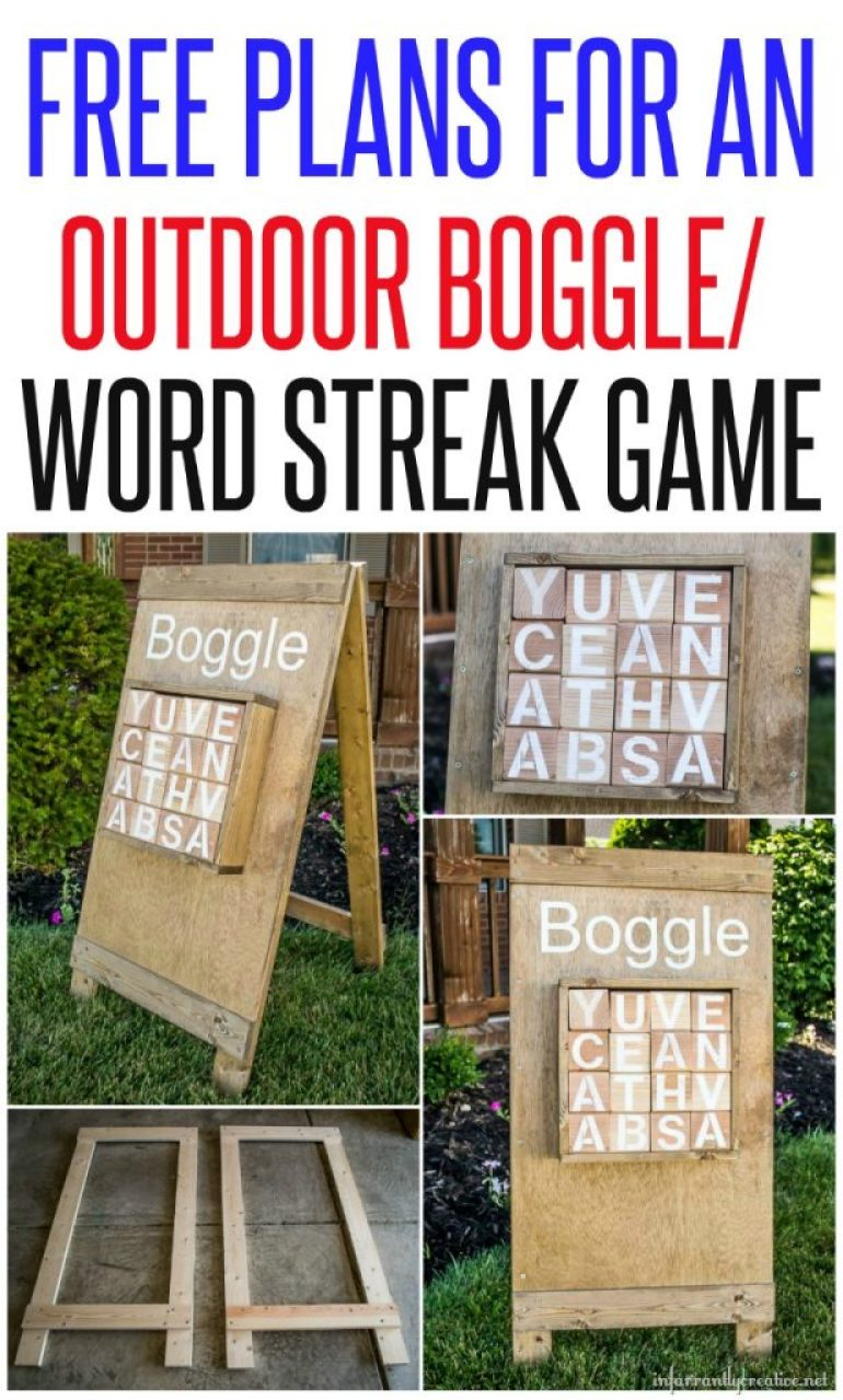 Free Plans for an Outdoor Boggle Word Steak Game
