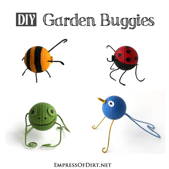 Have fun with your kids this summer turning golf balls into adorable critters for your garden!
