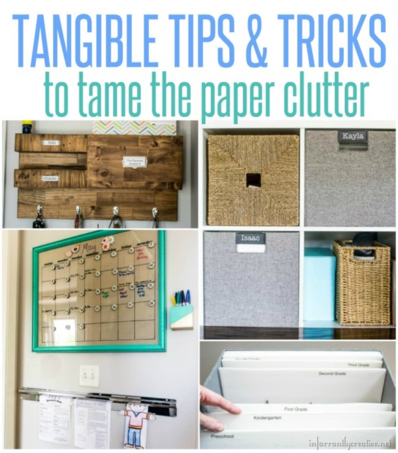 Tips and Tricks for Taming Paper Clutter