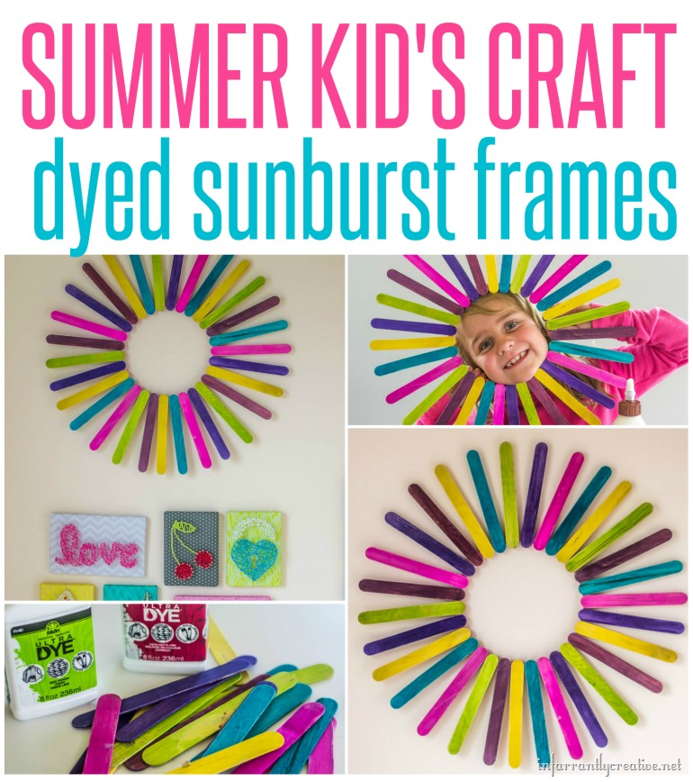 Dyed Popsicle Stick Sunburst {Great Summer Kid's Craft}