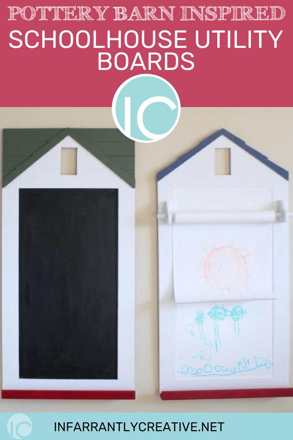 pottery barn craft paper holder chalkboard
