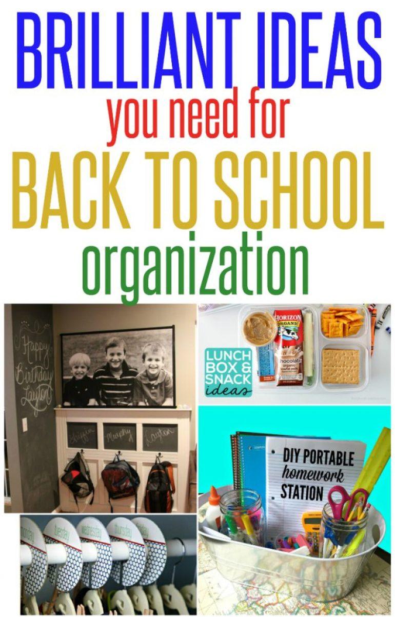 ideas for back to school organization