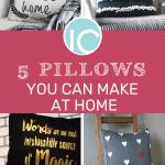 DIY pillows to make at home