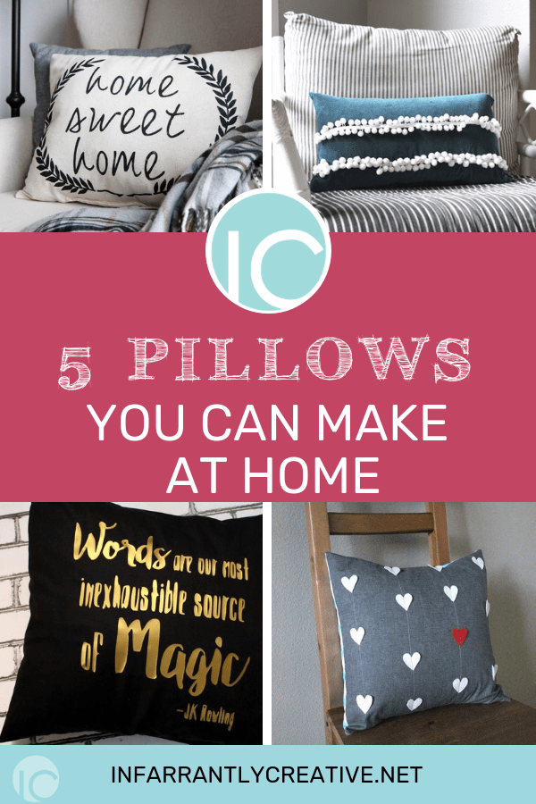 DIY pillows to make at home