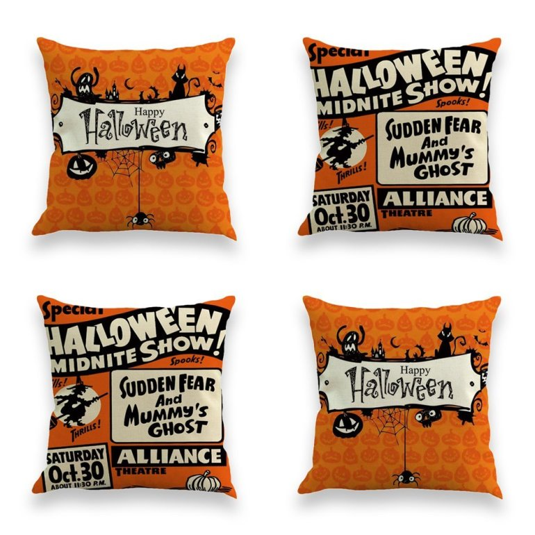 happy halloween 4 pack amazon pillows