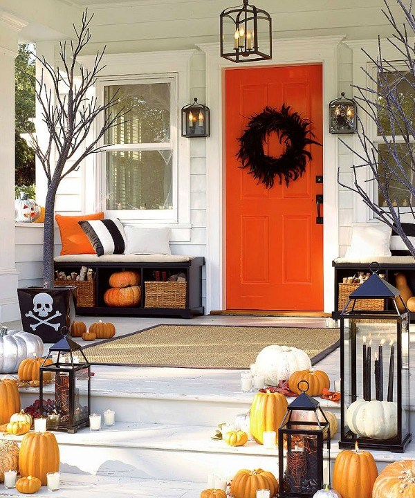 Pottery Barn Inspired Halloween Porch