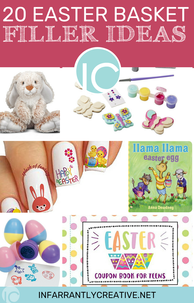 20 easter basket filler ideas that arent candy infarrantly creative so to help with filling those baskets with non candy items i have gathered some goodies that kids young and old will enjoy happy easter yall negle Image collections
