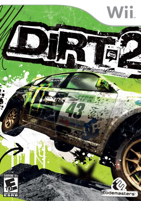 DiRT 2 Box Art - Wii - Rated E10+