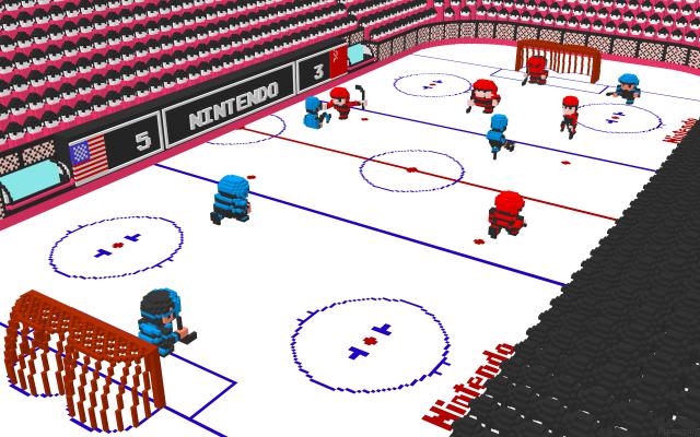 3d ice hockey nes